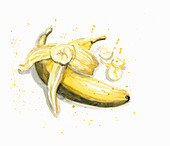 Illustration von Bananen