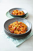 Courgette noodles with a bolognese sauce