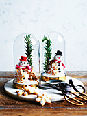 Edible Christmas snow domes