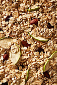 Granola with dried apples, almonds and raisins