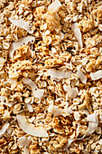 Granola with white chocolate and coconut chips