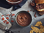 Mole Poblano with corn chips (Mexico)