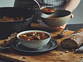 Dutch oven goulash soup