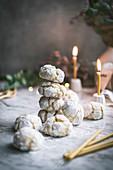 Lemon Crinkle Cookies (Zitronenmakronen) fürs Weihnachtsfest