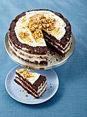 A peanut brownie naked cake