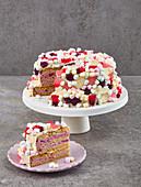 A marshmallow cake