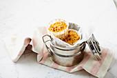 Cauliflower muffins with smoked ham
