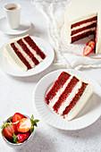 Red Velvet Cake, angeschnitten