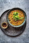 Dhal makhani with lentils and beans (India)