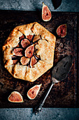 Fig galette with goat's cheese (France)