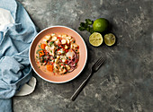 Ceviche - marinierter Fisch mit Limettensaft (Peru)