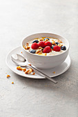 Keto muesli with berries and nuts