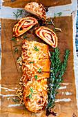 Pizza Stromboli with rosemary