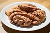A Franzbrötchen (cinnamon pastry) from Hamburg