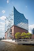 A view of the Elbphilharmonie, Hamburg, Germany