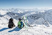 Switzerland, Grisons, Davos: View from Weissfluhgipfel (2844m)