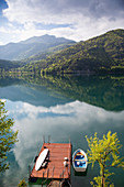 Lake Ledro in the early morning light, Valle di Ledro, Trentino, Italy