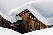 Switzerland, Grisons, Monstein: The Walser-village Monstein