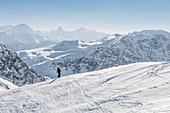Switzerland, Grisons, Davos: View from Weissfluhjoch (2662m)