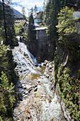 A stream in Goldegg am See, Pongau, Salzburger Land, Austria