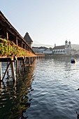 The 14th century Kappellbrücke over the River Reuss, Lucerne, Switzerland