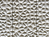 Wall covering 'Weisse Haut' in the Large hall of the Elbphilharmonie, Hamburg, Germany, Europe