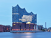 The Elbphilharmonie at dusk