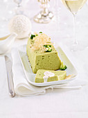 Broccoli terrine with Parmesan sauce