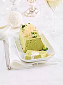 Broccoli terrine with Parmesan sauce