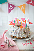 A birthday Bundt cake