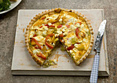 Leek and pepper tart
