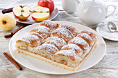 Cake with large pieces of apple