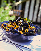 Mussels with carrots