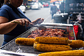 Street Food, Jackson Heights, New York City, USA