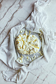 Labneh in cheese cloth