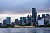 A view of Manhattan from Astoria Park, New York City, USA
