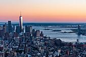 Manhattan, Hudson River, New York City, USA