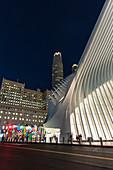 'Oculus' station (architect Santiago Calatrava) at Ground Zero, New York City, USA