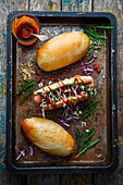 Hot dogs with homenade buns