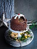 Schokoladen Smash Cake uu Weihnachten