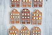 Gingerbread house motif cookies