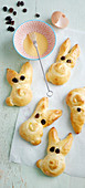 Easter bread bunnies
