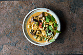 Thai vegetable curry with tofu
