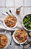 Pasta with chilli, tuna and white bean