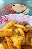 Fried bananas for breakfast