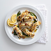 Passera a beccafico (stuffed flounder rolls, Italy)