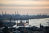 A view of the container terminal, Hamburg, Germany