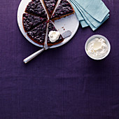 Upside down blueberry pie