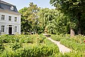 The rose garden in Ottweiler, Saarland, Germany