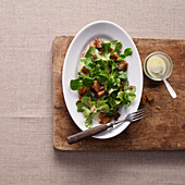 Lamb's lettuce with a potato dressing